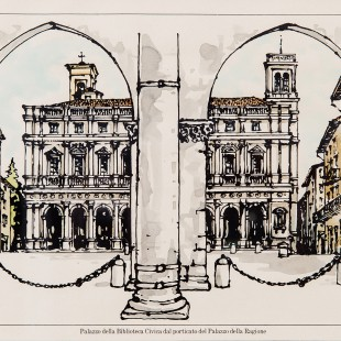 Biblioteca Civica vista dal Palazzo della Ragione